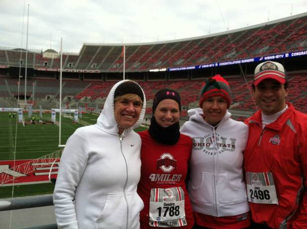Peggy, Deedra, Teresa, Joey ; LF Cbus Run Club Crew