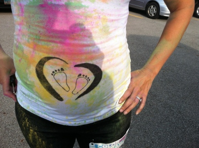 Color Run 5K ~ Baby on board!