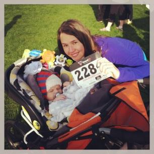 Baby JPs first 5K, Spring 2013