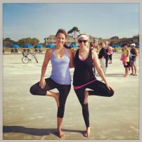 Yoga on the beach! HHI 2014