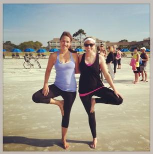 Yoga on the beach! HHI 2014