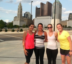 Group run @ Bicentennial Park & Scioto Mile