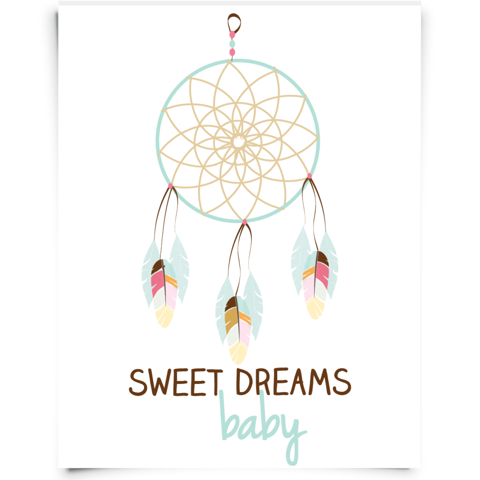 Little Leo S Nursery Fit For A King: Blue-and-Tan-Dream-Catcher-01