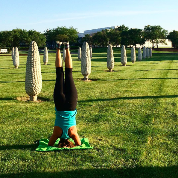 Pin 6 Field of Corn headstand
